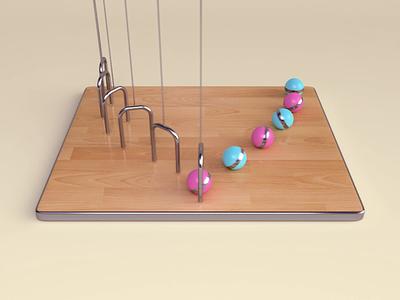 Balls oddly satisfying wood balls loop abstract render animation 3d design webshocker