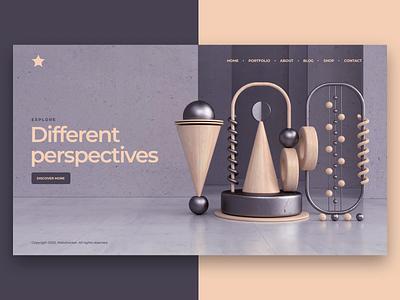 Website visual aftereffects 3dsmax artist art ux ui layout visual website animation 3d design webshocker