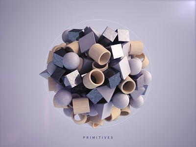 Primitives 3dsmax vray 3d shapes primitives illustration abstract render animation design webshocker