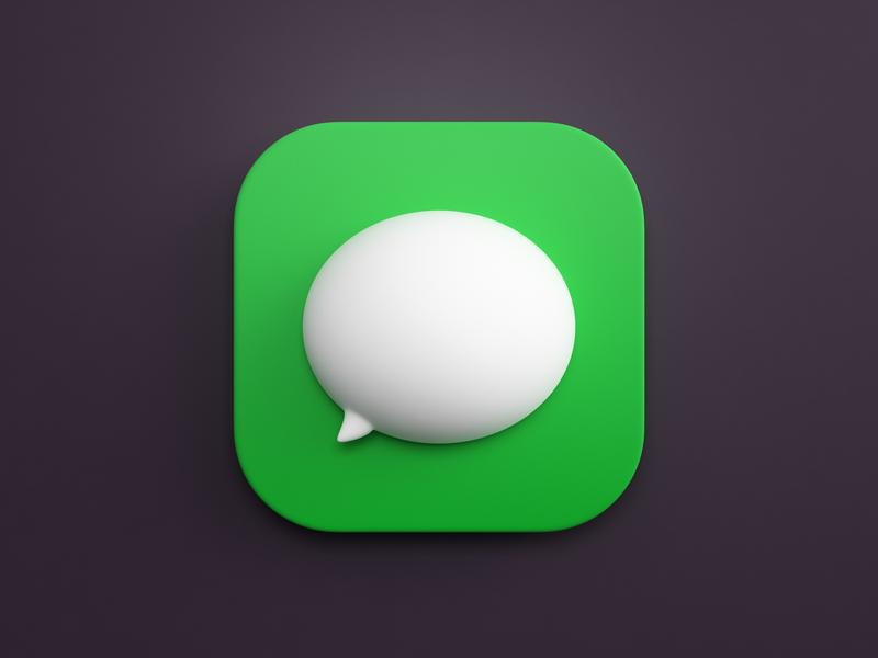 Messages vray c4d 3dsmax ios messages macos bigsur icon design illustration logo render icon 3d design webshocker