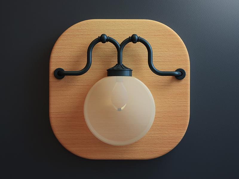 Lamp design webshocker 3d lamp app icon