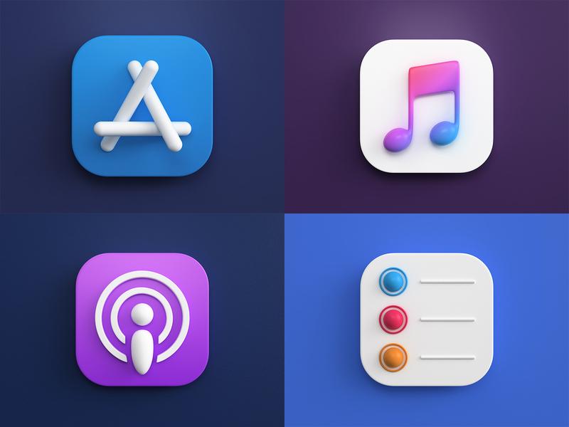3d icons icon design ios photoshop vray 3dsmax render big sur mac os icon 3d design webshocker