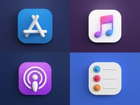 3d icons icon design ios photoshop vray 3dsmax render big sur mac os icon 3d design webshocker