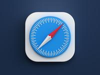 Safari icon browser safari photoshop 3dsmax vray icon design render big sur mac os icon 3d design webshocker