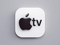Apple TV 3dsmax vray render macos big sur icon design logo tv apple icon 3d design webshocker