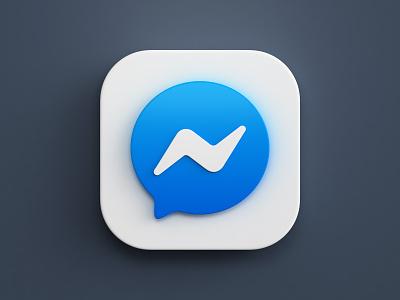 3d app icons icon design render messenger twitter mac os big sur ios app illustration icon 3d design webshocker