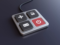 Buttons button keyboard illustration icon animation render 3d design webshocker