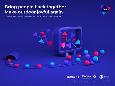 Presentation visual billboard ads abstract presentation branding illustration render 3d design webshocker