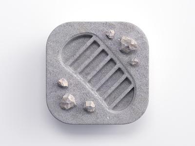 Footprint icon big sur macos footprint soil illustration branding ios app render 3d design webshocker
