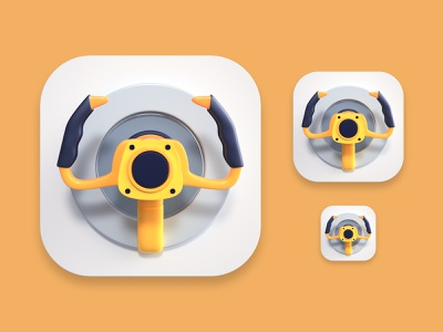 Copilot icon illustration logo branding ios app icon 3d render design webshocker