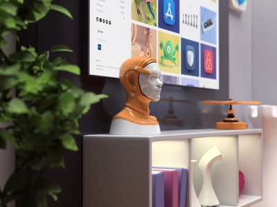 My room - animation portfolio room video website animation illustration render 3d design webshocker