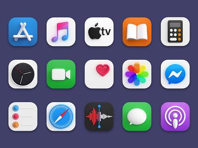 3d iOS icons gumroad apple appstore app store shop render 3d macos bigsur ios icon design webshocker