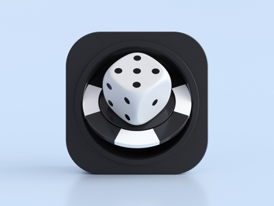 Games - app icon chp poker dice games macos ios illustration render app icon 3d design webshocker