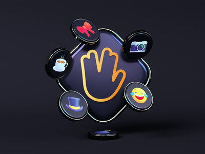 Loop II icon website logo branding loop illustration animation 3d render webshocker