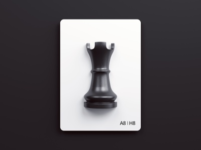 Chess cards - Rook vray 3dsmax render 3d cards rook chess design webshocker