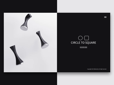 Circle to Square circletosquare render webdesign chess 3d animation website design webshocker