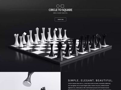 Circle to Square - WIP ux ui webdesign circletosquare chess animation website 3d design webshocker
