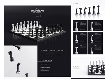 Circle to Square - website 3d ux ui logo brand chess store shop web design website design webshocker
