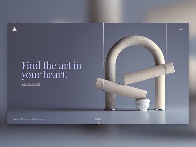 Website visual artwork ux ui graphc design print abstract render 3d web design art illustration website design webshocker