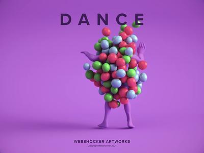 Dance vray 3dsmax abstract website render illustration 3d animation design webshocker