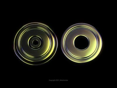 Reflections motion graphics motion design holographic iridescent design 3d render logo website illustration icon animation webshocker