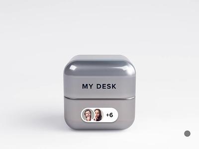 Cube workplace room cube motion design 3d icon website illustration animation webshocker