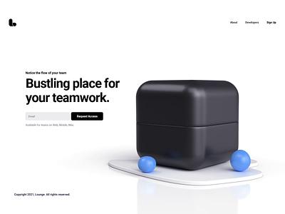 Lounge 3ds max remote work mettings cube after effects c4d vray design 3d render logo ui website illustration animation webshocker