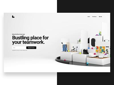 Website visual icon design lounge ux ui logo render 3d illustration animation website webshocker