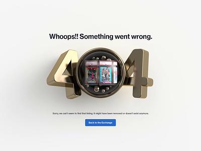 404 cards sport ux ui logo icon render illustration 404 website animation webshocker