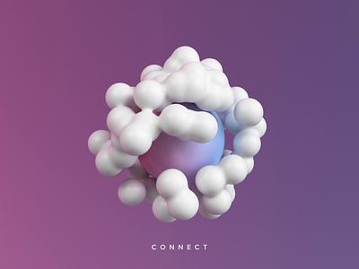 Connect icon logo illustration render 3d design website animation webshocker