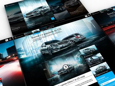 Mercedes Mini site webshocker website mercedes buttons interface design