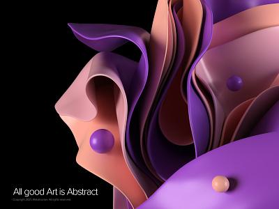 Abstract visual c4d 3dsmax vray 3d art abstract render design website illustration webshocker