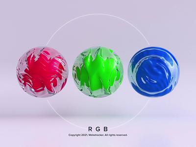 RGB motion graphics noise deform artist art abstract render motion design web design rgb 3d animation webshocker