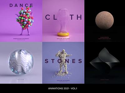 Animations 2021 - Vol.1 vray 3dsmax motion design design render 3d illustration website animation webshocker