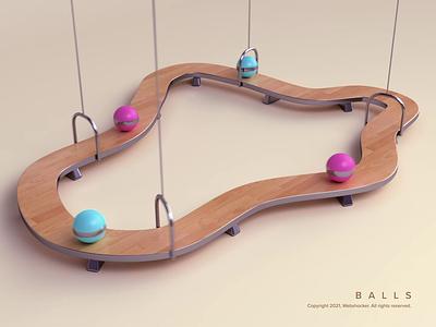 Balls path loop balls motion design web design illustration design 3d render animation webshocker