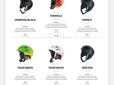 Ski Accessories - Shop sport skiing store accessories skis shop concept desig webshocker