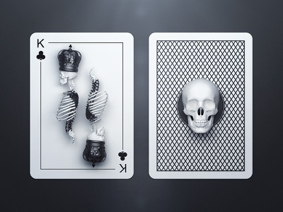 King of Clubs / Back king back clubs personal deck playing cards design webshocker