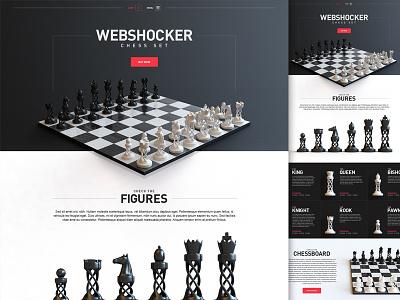 Webshocker - Chess shop store website games chess design webhsocker
