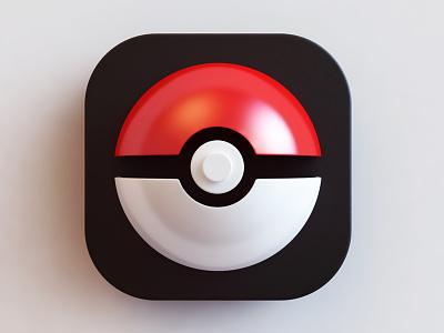 Go - icon photoshop 3d icon design go pokemon design icon webshocker