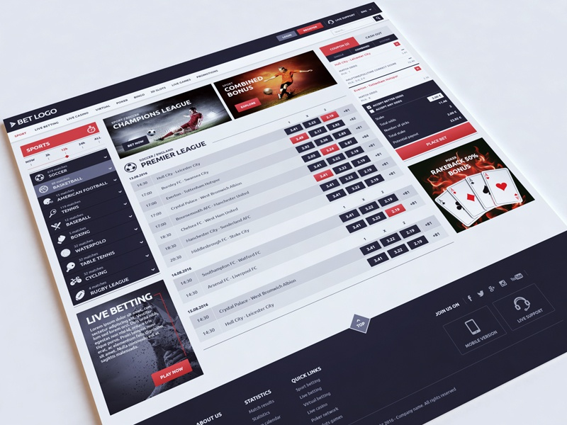 Sport betting website01