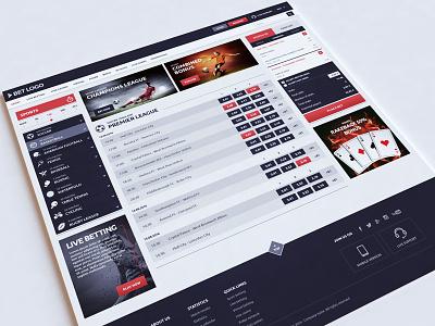 Sport Betting web design development html betting ux ui bet design webshocker website sport