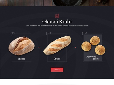 Wip dark gright bakery bread wip website desig webshocker