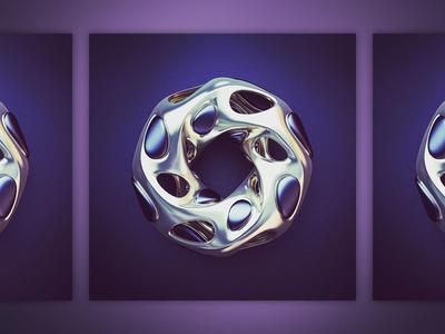 Mobious shape abstract art mobious 3d print render design 3d webshocker