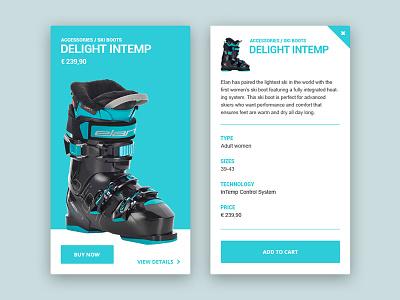Ski Boot skiing widget sport design ski boot skis webshocker