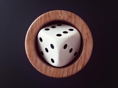 Dice design icon design casino gamble render 3d icon dice webshocker