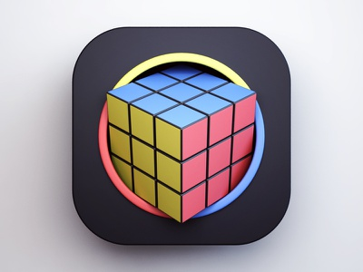 Rubik's Cube 3d ios game app cube rubiks cube design icon design icon webshocker