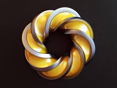 Mobious abstract 3d render design art print 3d print art mobious webshocker