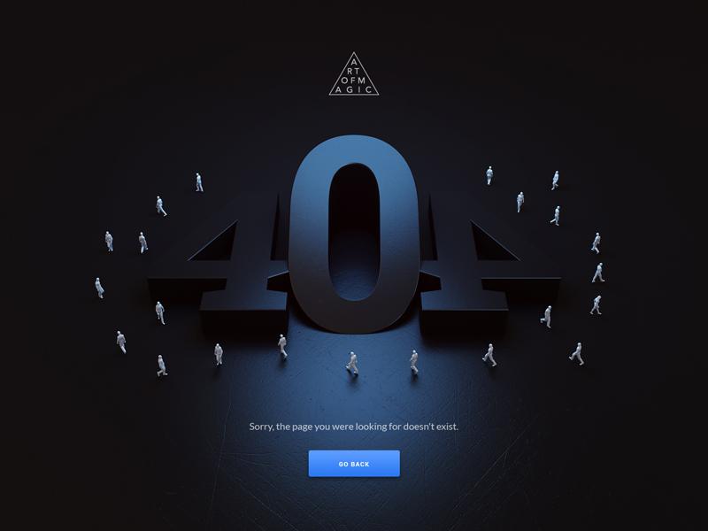 404 - Art of Magic visual web design design website artofmagic page not found 404 webshocker
