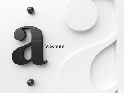 A[wesome] Art print white black lettering title awesome design society6 artprint webshocker