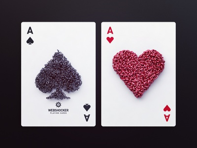 Aces ace of hearts ace of spades poker 3d playing cards aces design webshocker